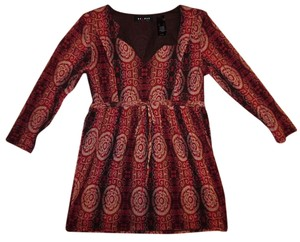 Axcess Drawstring Waist Top Brown, Cranberry Red, Ivory