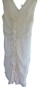 Paul & Joe White Chiffon Silk Dress
