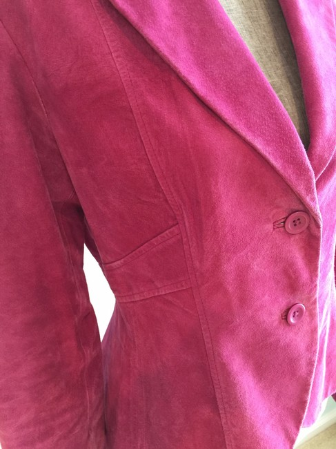 Ideology Raspberry Suede Jacket (Size Small)