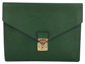 Louis Vuitton Lv Epi Cluch Sellier green Clutch