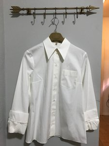 Michael Kors Collection Made In Italy Button Down Shirt Off White
