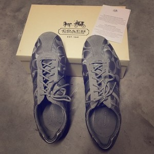 Coach Sneakers Leather Jayme Silver Athletic