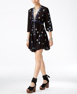 Free People short dress Black/Blue/White on Tradesy