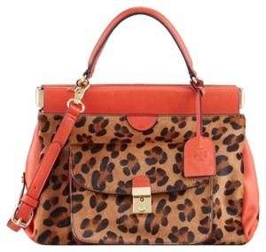 Tory Burch Satchel in Red And cheetah