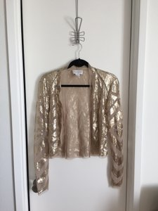 Cache Sequin Champagne Sparkle Glam Cardigan