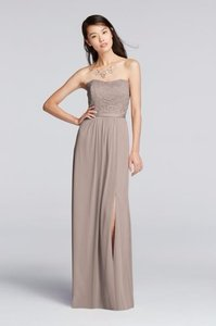 David's Bridal Biscotti F18095 Dress
