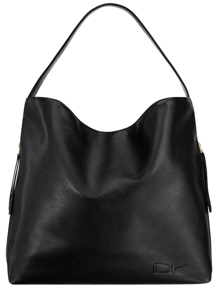 Donna Karan Per Weekender Shoulder Handbag Purse Tote In Black