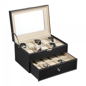 Makes A Great Gift! Black Watch Display Storage Box. Holds 20.