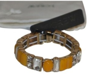 J.Crew NWT J CREW IN THE MIX BRACELET BANGLE YELLOW CLEAR