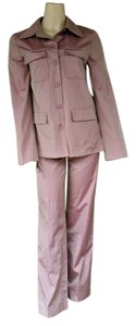 STRENESSE New STRENESSE Gabriele Strehle Pink Shot Tafetta Pantsuit Pants Suit 0/2