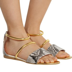Stella McCartney Gray & Gold Sandals
