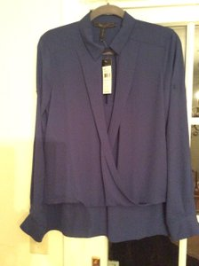 BCBGMAXAZRIA Long Sleeved Top Deep Royal Blue