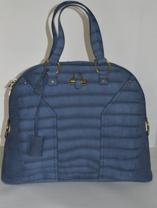 Saint Laurent Muse Ysl Tote in Blue
