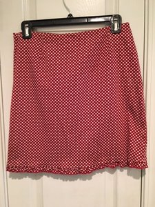 INC International Concepts Mini Skirt Red & White Stripe