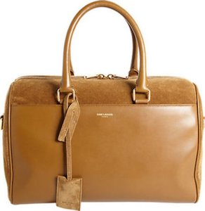 Saint Laurent Duffle Duffle Ysl Duffle Satchel in Brown
