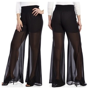 Other Chiffon Wide Leg Pants black