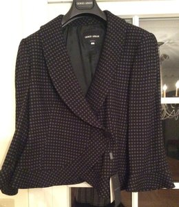 Giorgio Armani Wool Black with Gray Dots Jacket