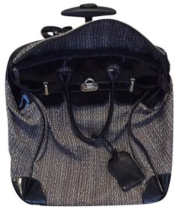 ShoeDazzle Black And White Tweed Travel Bag