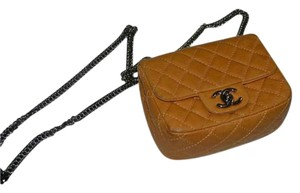 Chanel Square Mini Leather Vintage Cross Body Bag