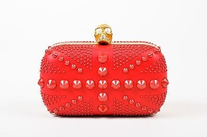 Alexander McQueen Spike Red Clutch