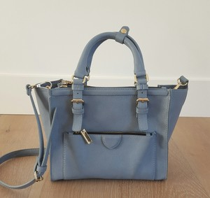 Zara Satchel in Light Blue