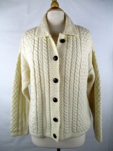 Aran Crafts Irish Cable Knit Cardigan