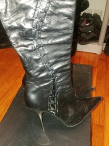 Giuseppe Zanotti Knee High Leather Leather Black Boots