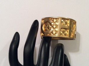 Chanel CHANEL VINTAGE '97P GOLD PLATED CUFF BRACELET