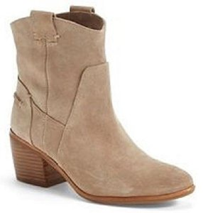 Vince Camuto Suede Pull On Beige Boots