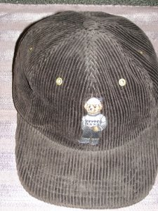 Ralph Lauren Plum Ralph Lauren Polo Teddy Bear Baseball Cap in Corduroy