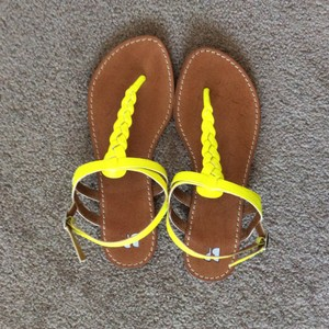 BP. Clothing Bright yellow Sandals