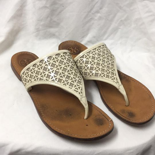 Preload https://item5.tradesy.com/images/tory-burch-tan-white-textile-leather-up-sandals-size-us-9-regular-m-b-19890454-0-0.jpg?width=440&height=440
