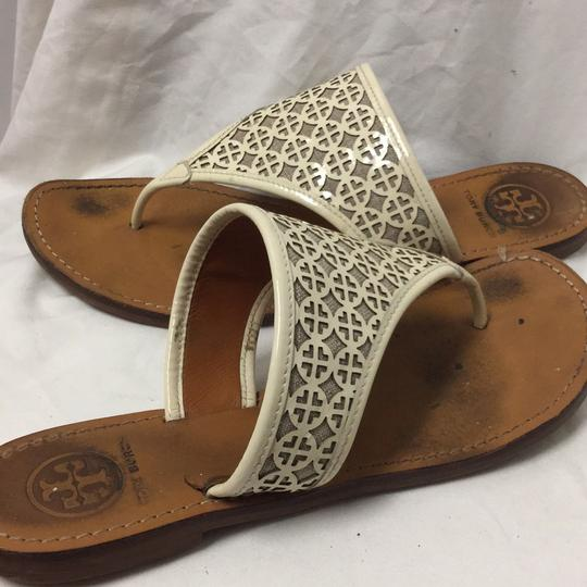 Tory Burch Tan / White Sandals