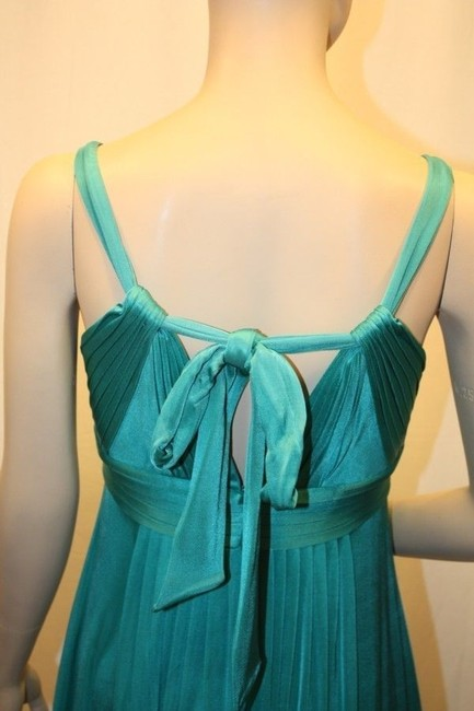BCBGMAXAZRIA Acetate With Beading Around Neck Area. Ties In The Back. Like New Dress