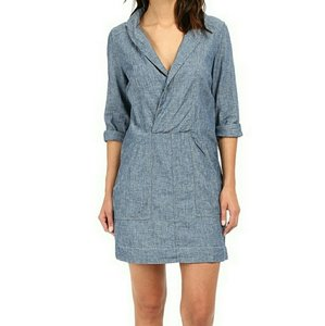 Free People short dress Chambray on Tradesy