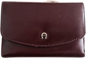 Etienne Aigner Genuine Leather Burgundy Small Wallet