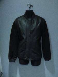 Vince Army Green Leather Jacket