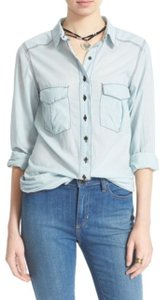 Free People Button Down Shirt chambray