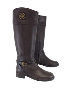 Tory Burch Brown Pebbled Leather Boots