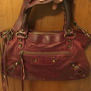Balenciaga Satchel in Dark Red