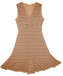 Old Navy short dress Brown, Beige Stretch Sleeveless on Tradesy