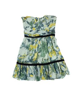 Elizabeth and James short dress Green Yellow Floral Silk on Tradesy