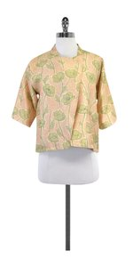 SUNO Pink Green Floral Wrap Top