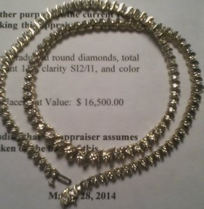 Diamond Choker Necklace w/ Appraisal
