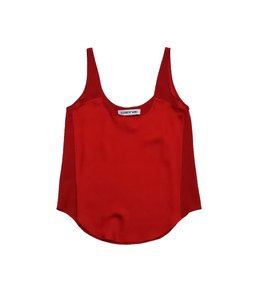 Elizabeth and James Red Silk Top
