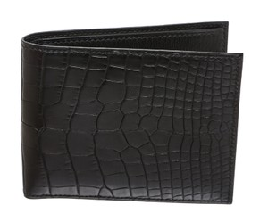 Herms Hermes Black Alligator Men's Wallet