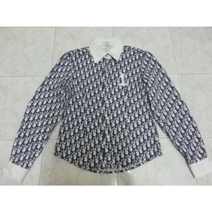 Dior Button Down Shirt Blue/ white