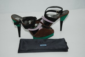 Prada Suede Buckle multicolor Sandals