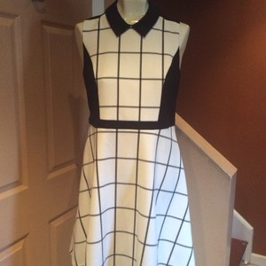 Black and Winter White Maxi Dress by Ann Taylor