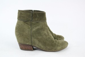 Lucky Brand Army-green Suede Ankle Boots